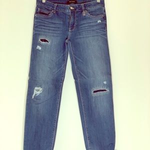 Whbm distressed crop jean